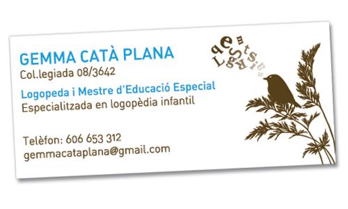 Targeta logopeda Gemma Catà